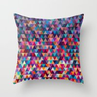 triangles Throw Pillows featuring Triangles by Ornaart