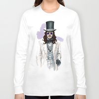 dracula Long Sleeve T-shirts featuring Dracula by Myrtle Quillamor