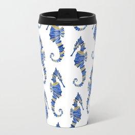 Seahorse – Navy & Gold Travel Mug