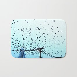 After Hours At The Wire Bath Mat