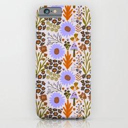 Wild Flowers in Lavender iPhone Case