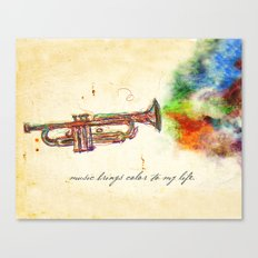 Music Brings Color to My Life Canvas Print