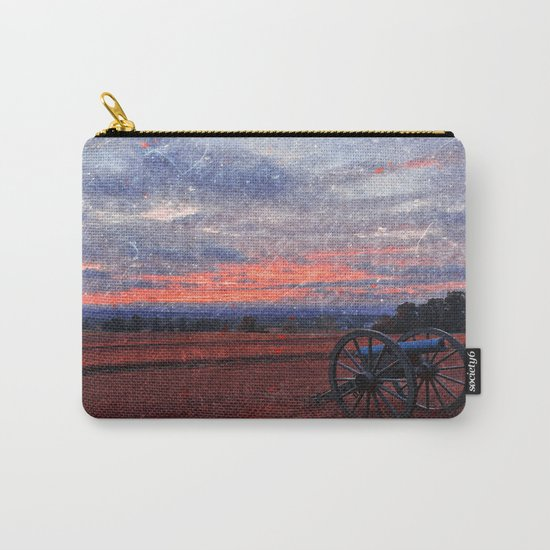 Gettysburg Cannon Sunset - Ruby Rapture Carry-All Pouch