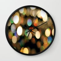 the lights Wall Clocks featuring Lights by Janelle
