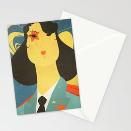 Retro Russian poster Stationery Cards