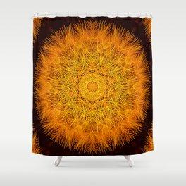 Golden Fluff Shower Curtain