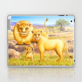Lion, Lioness and Cub Laptop & iPad Skin