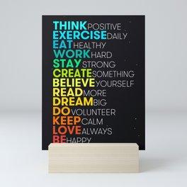 Motivating Inspiring Daily Dose Mini Art Print