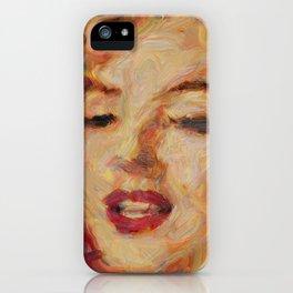 Marylin Monroe's closeup iPhone Case