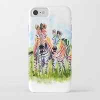 zebra iPhone & iPod Cases featuring Zebra by Anna Shell