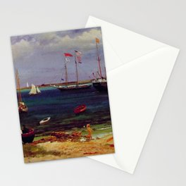 Nassau Harbor By Albert Bierstadt   Reproduction Painting Stationery Cards
