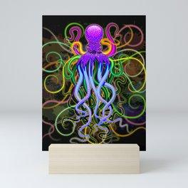 Octopus Psychedelic Luminescence Mini Art Print