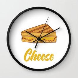 """Team Grilled Cheese"" Baking Design For Bakers T-shirt Design Fork Knife Cherry Cake Dessert Buttons Wall Clock"