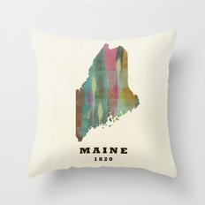 Maine state map modern Throw Pillow