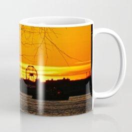 Sunset over The Hudson River NYC 2 Coffee Mug