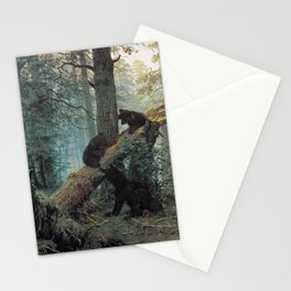 Shishkin Ivan Morning in a Pine Forest. Stationery Cards