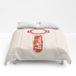 Bottomless Portafilter // Barista Espresso Machine Coffee Shop Humor Graphic Design Comforters