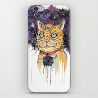 space cat iPhone & iPod Skins featuring Space Cat by scoobtoobins