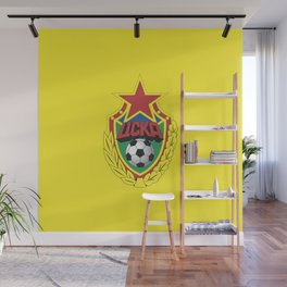 Cska Football old  badge. For soccer lovers. Sports collection. Wall Mural