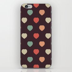 Retro love pattern iPhone & iPod Skin