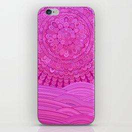 Hot Pink Ocean Mandala iPhone Skin