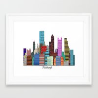 pittsburgh Framed Art Prints featuring Pittsburgh by bri.buckley