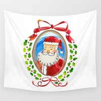 frame Wall Tapestries featuring Santa's Frame by Lilikoi Treehouse