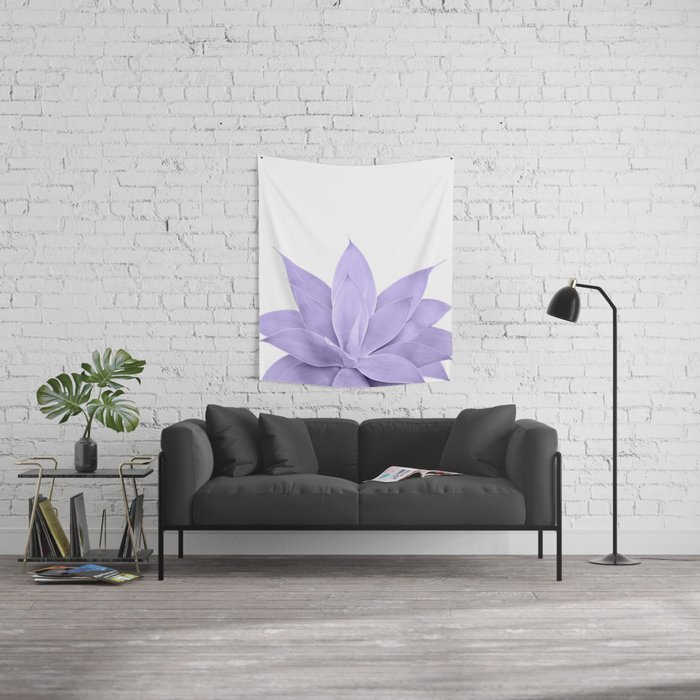 Ultra Violet Agave on White #1 #tropical #decor #art #society6 Wall Tapestry