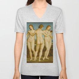 """Raffaello Sanzio da Urbino """"Three Graces"""", circa 1504-1505 Unisex V-Neck"""