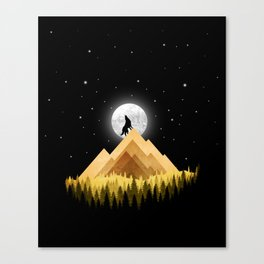 Wolf Silhouette Canvas Print
