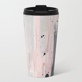 Soft Pink Abstract Travel Mug