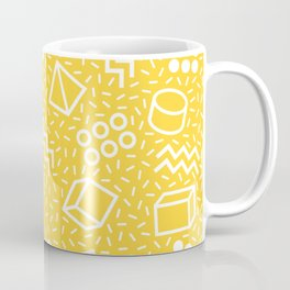 Abstract Memphis Style Pattern Yellow Coffee Mug