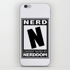 Rated N for Nerd iPhone & iPod Skin
