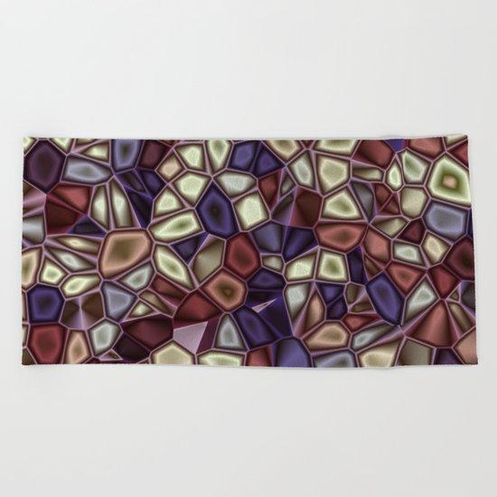 Fractal Gems 01 - Fall Vibrant Beach Towel