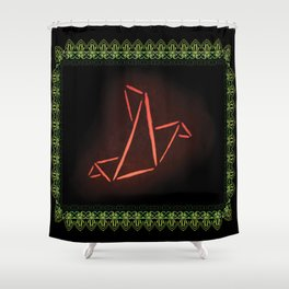 Origami Bird Shower Curtain