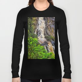 Waterfall in the rainforest Long Sleeve T-shirt