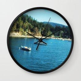 Sailing away Wall Clock