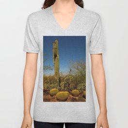 Saguaro and Mother in Law Pillow Unisex V-Neck