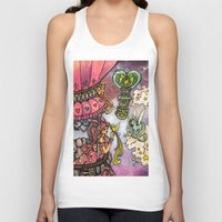 80s Tank Tops featuring 80s dreamscape by Charlie L'amour