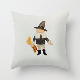 November Thanksgiving Pilgrim Puritan Baby Boy Toddler Throw Pillow