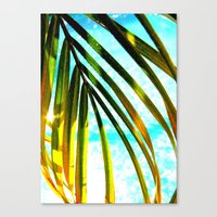 palm Canvas Prints featuring Palm by Stephanie Stonato
