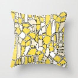 BROKEN POP lemon Throw Pillow