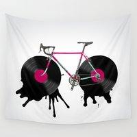 bicycle Wall Tapestries featuring bicycle by mark ashkenazi