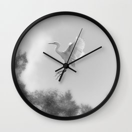Great Egret Wall Clock