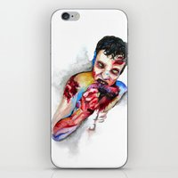 zombie iPhone & iPod Skins featuring Zombie by Camille Ratté