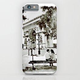 The Arc de Triomphe Paris Black and White iPhone Case