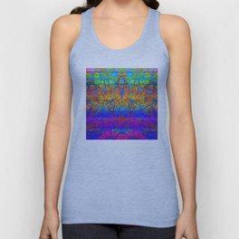 Bright Rainbow Colored Half Mandala Design Unisex Tank Top