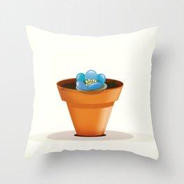 Pretty Blue flower in a pot Throw Pillow