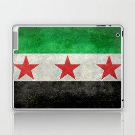 Independence flag of Syria, vintage retro style Laptop & iPad Skin