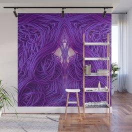 Purple Coils Wall Mural